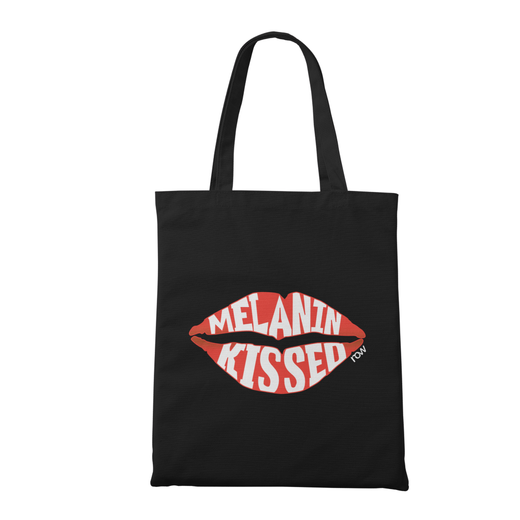 melanin kissed tote bag