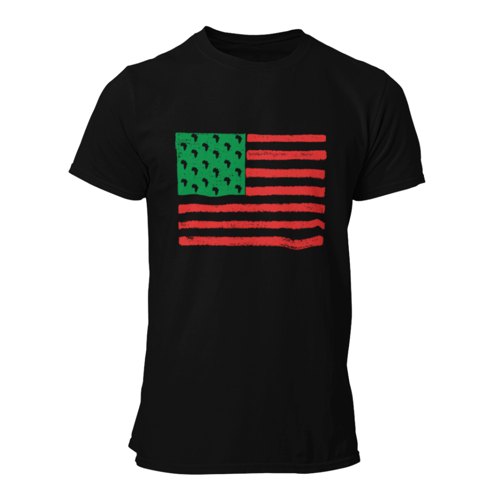 rgb red green black flag african american shirt