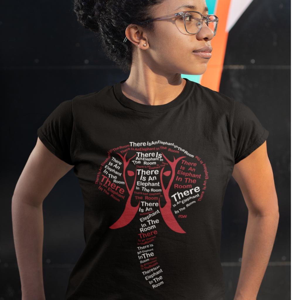 woman in delta sigma theta elephant shirt