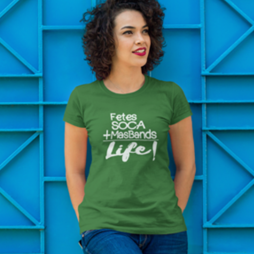 woman in soca is life caribbean carnival shirt